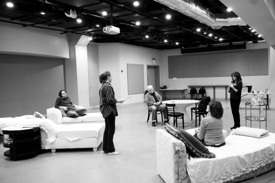 Other Desert Cities Rehearsal – rehearsal room