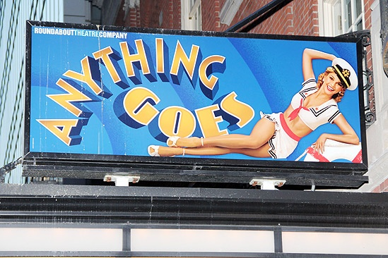 Anything Goes Opening Night  marquis