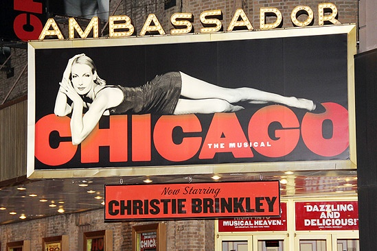 Christie Brinkley opens – marquee