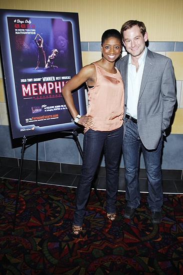 Memphis movie premiere  Chad Kimball  Montego Glover