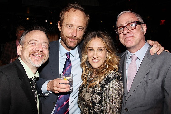 The Normal Heart Opening Night – Mark Shaiman – John Benjamin Hickey – Sarah Jessica Parker – Scott Wittman