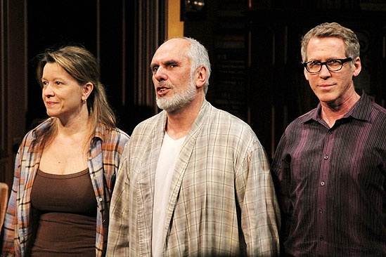 Intelligent Homosexual's Guide Opening Night – Linda Emond – Michael Cristofer – Stephen Spinella (curtain call)
