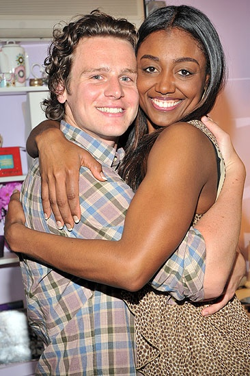 Jonathan Groff and Angela Lansbury at &lt;i&gt;Sister Act&lt;/i&gt; - Jonathan Groff  Patina Miller 