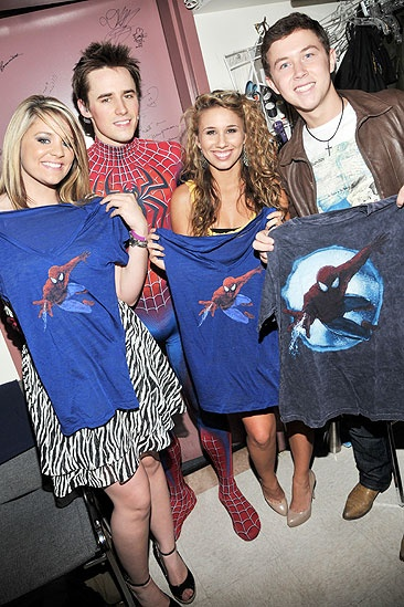 Spider-Man Idols - Lauren Alaina – Reeve Carney – Haley Reinhart – Scotty McCreery 2