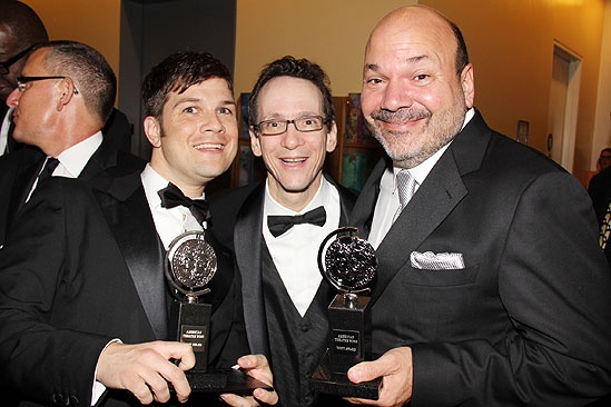 2011 Tony Awards Winners Circle – Stephen Oremus – Larry Hochman – Casey Nicholaw