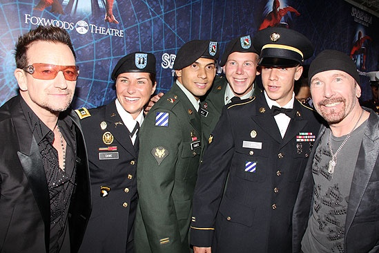 Spider-Man opening – Bono – Edge – troops