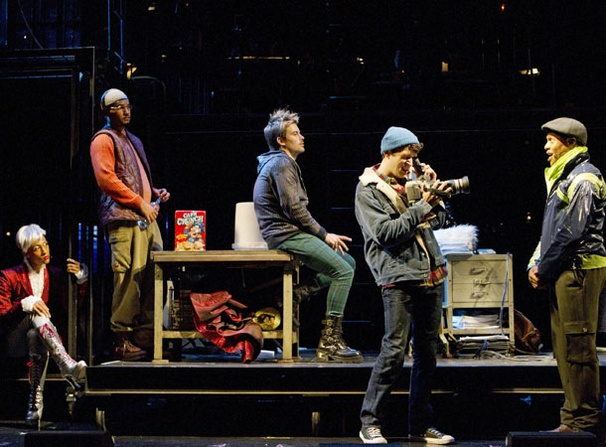 Show Photos - Rent - Michael Rodriguez - nicholas Christopher - Matt Shingledecker - Adam Chanler-Berat - Ephraim Sykes