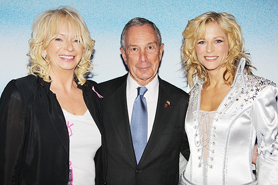 Mamma Mia Tenth Anniversary  Judy Craymer  Michael Bloomberg  Lisa Brescia