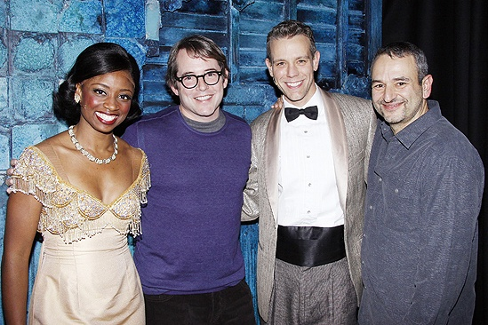 Matthew Broderick at Memphis  Montego Glover  Matthew Broderick  Adam Pascal  Joe DiPietro