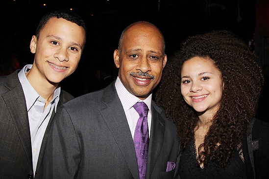 &lt;i&gt;Stick Fly&lt;/i&gt; Opening Night  Ruben Santiago-Hudson and kids