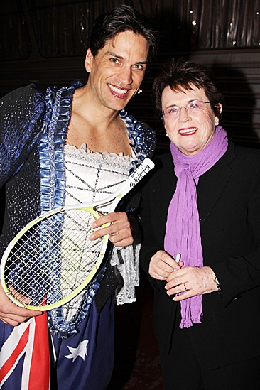 Priscilla Queen of the Desert- Will Swenson and Billie Jean King