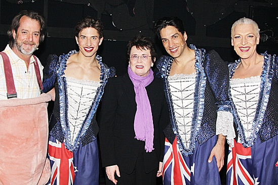 Priscilla Queen of the Desert- C. David Johnson, Nick Adams, Billie Jean King, Will Swenson and Tony Sheldon
