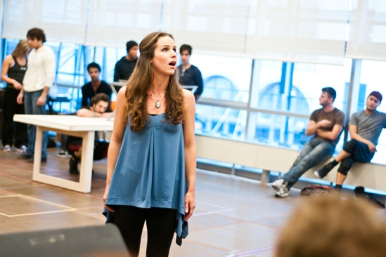 In Rehearsal with Jesus Christ Superstar  Chilina Kennedy 