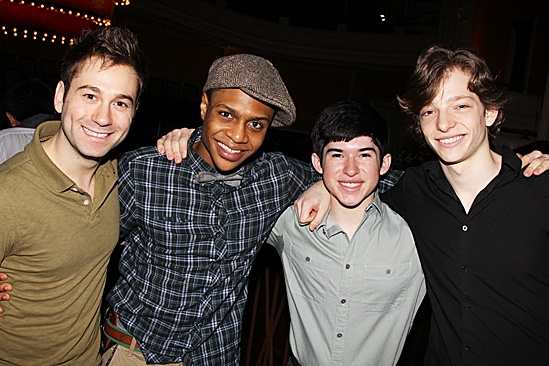 Newsies- Michael Fatica, Ephraim M. Sykes, Andy Richarson and Mike Faist