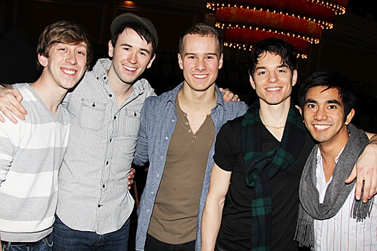 Newsies- Ryan Breslin, Garett Hawe, Ryan Steele, Kyle Coffman and Aaron J. Albano