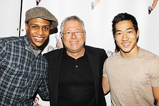 Newsies- Ephraim M. Sykes, composer Alan Menken and Alex Wong