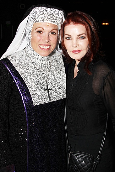 Priscilla Presley at Sister Act -  Carolee Carmello  Priscila Presley 