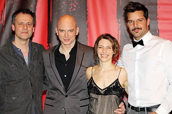 Evita - Ricky Martin, Michael Grandage, Elena Roger and Michael Cerveris