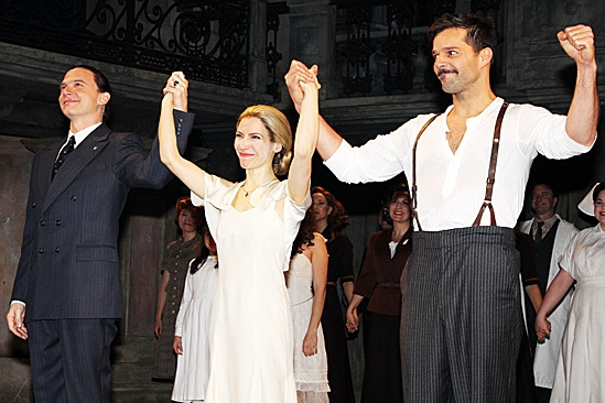 Evita - Michael Cerveris, Elena Roger and Ricky Martin