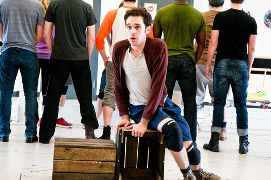 Peter and the Starcatcher Rehearsal Adam Chanler-Berat 