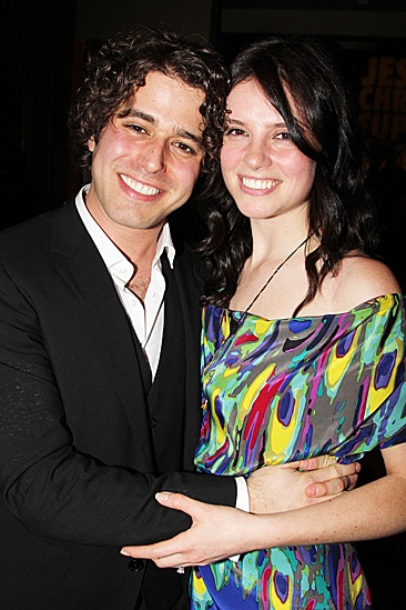 Jesus Christ Superstar opening night  Josh Young and girlfriend