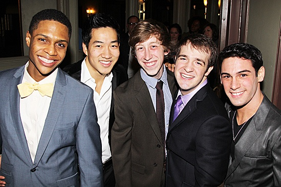 Newsies – Opening Night – Ephraim Sykes – Alex Wong – Ryan Breslin – Evan Kasprzak – Tommy Bracco