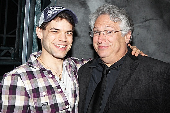 Newsies Gypsy Robe  Jeremy Jordan  Harvey Fierstein