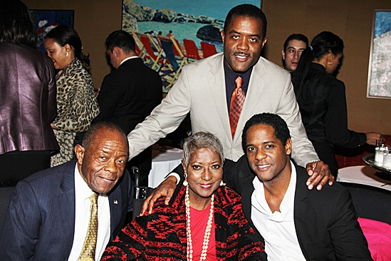 A Streetcar Named Desire opening night – Blair Underwood and family