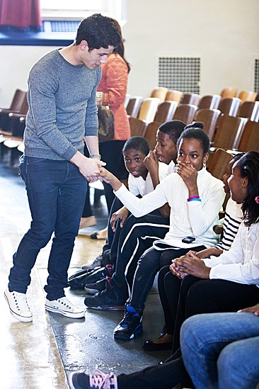 How to Succeed – Nick Jonas School Visit – Nick Jonas – students