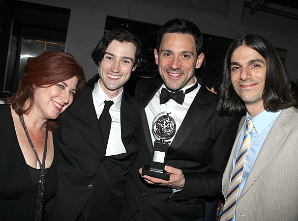 Once Tony party – Anne L. Nathan – Will Connolly – Steve Kazee – Lucas Papaelias