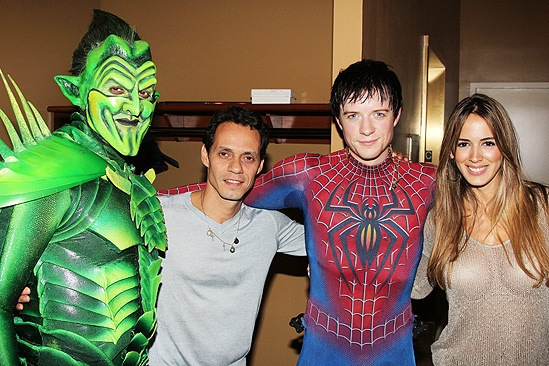 Spider-Man Turn Off The Dark – Marc Anthony Visit - Robert Cuccioli - Marc Anthony – Matthew James Thomas – Shannon De Lima