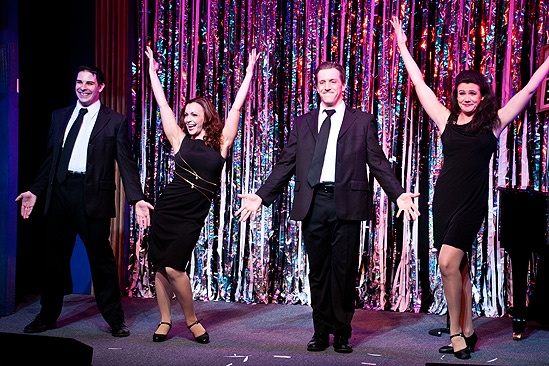 Forbidden Broadway Opening- Marcus Stevens- Jenny Lee Stern-Natalie Charle Ellis- Scott Richard Foster