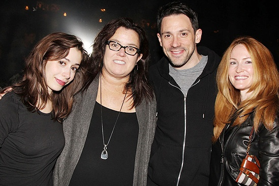 Rosie O'Donnell at 'Once' — Cristin Milioti — Rosie O'Donnell — Steve Kazee — Michelle Rounds