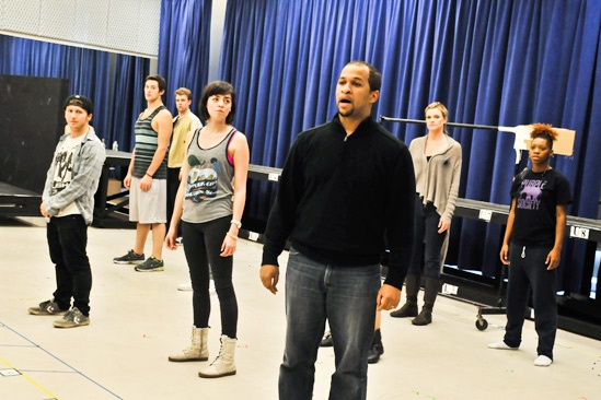 Bare  Rehearsal  cast - Jerold Solomon