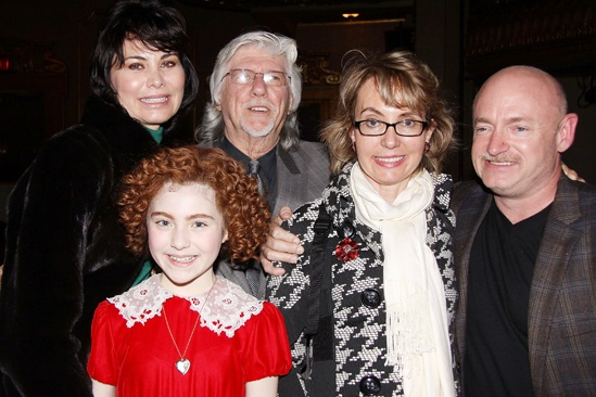 Annie-  Lilla Crawford- Shelly Burch- Martin Charnin- Gabrielle Giffords- Mark Kelly 