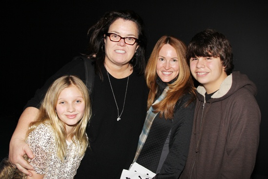 Rosie O'Donnell at 'Bring It On' — Rosie O'Donnell — Michelle Rounds — Vivienne O'Donnell — Blake O'Donnell