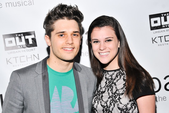 Bare – Opening Night – Andy Mientus – Alexandra Socha