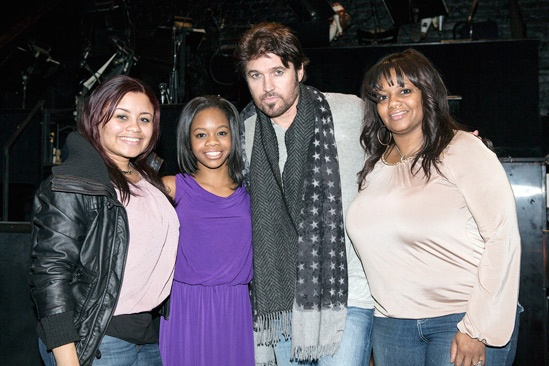 Gabby Douglas at 'Chicago' – Arielle Hawkins – Gabby Douglas – Billy Ray Cyrus – Natalie Hawkins