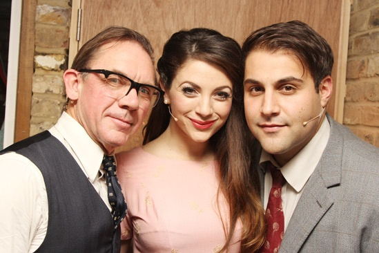 Backstage at 'Sweet Smell of Success' — David Bamber — Caroline Keiff — Adrian der Gregorian