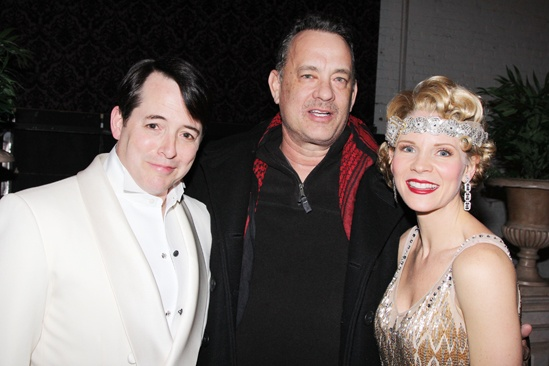 Nice Work  Tom Hanks Backstage  Matthew Broderick  Tom Hanks  Kelli OHara