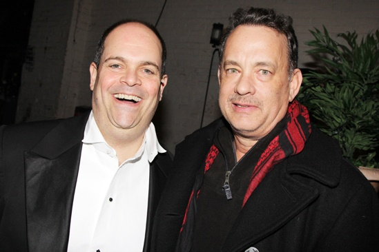 Nice Work  Tom Hanks Backstage  Brad Oscar  Tom Hanks