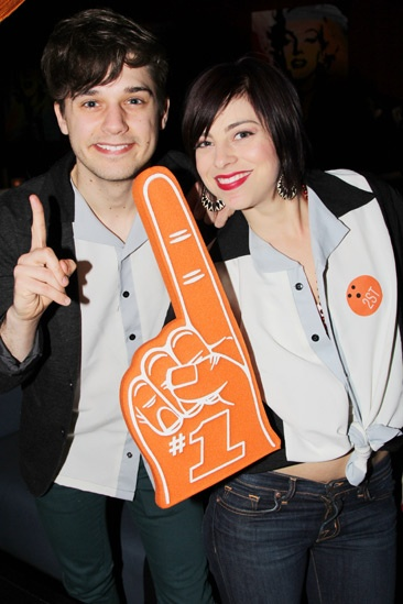 Second Stage Bowling 2013  - Andy Mientus  Krysta Rodriguez