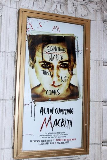 Alan Cumming Macbeth marquee – Alan Cumming