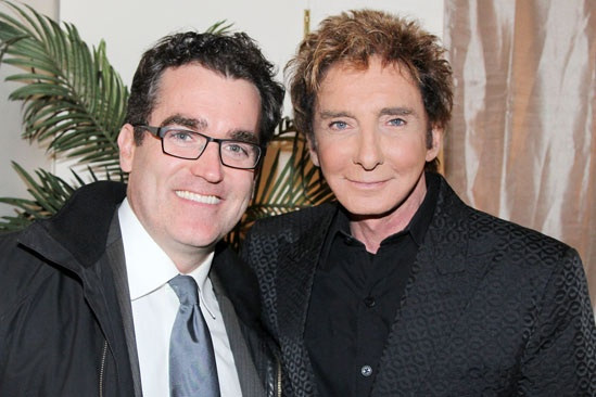 Celebs at Manilow on Broadway  Barry Manilow  Brian dArcy James 