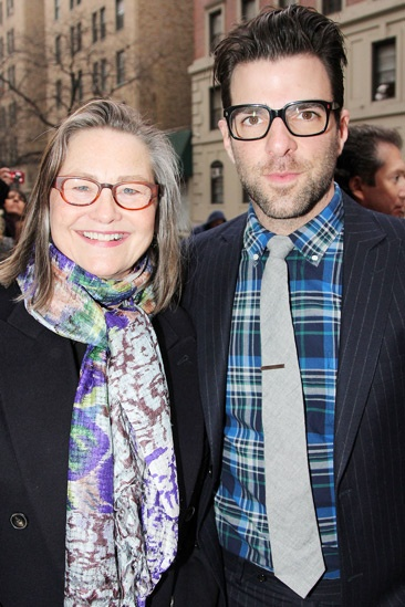 Kinky Boots Opening-  Cherry Jones- Zachary Quinto