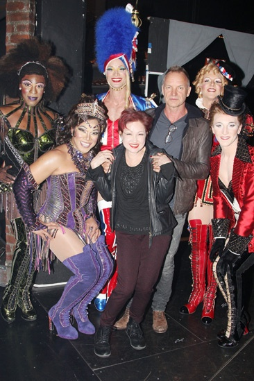 Photo 5 of 6 rock icon sting joins for Cyndi lauper broadway kinky boots