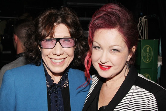 Celebs at Kinky Boots — Lily Tomlin — Cyndi Lauper