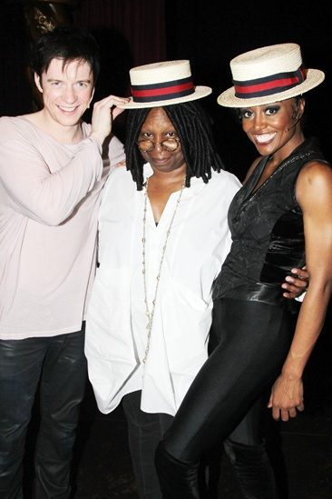 Pippin – Whoopi Backstage Visit – Matthew James Thomas – Whoopi Goldberg – Patina Miller