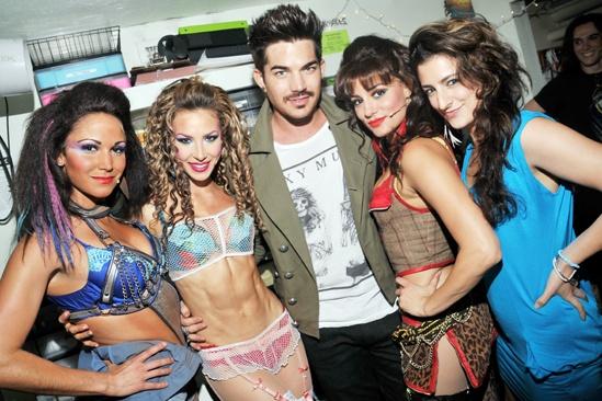 Rock of Ages - Adam Lambert Visit – Jennifer Rias – Cassie Silva – Adam Lambert – Neka Zang – Tessa Alves