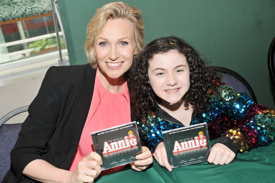 Annie-  CD Signing- Jane Lynch- Lilla Crawford